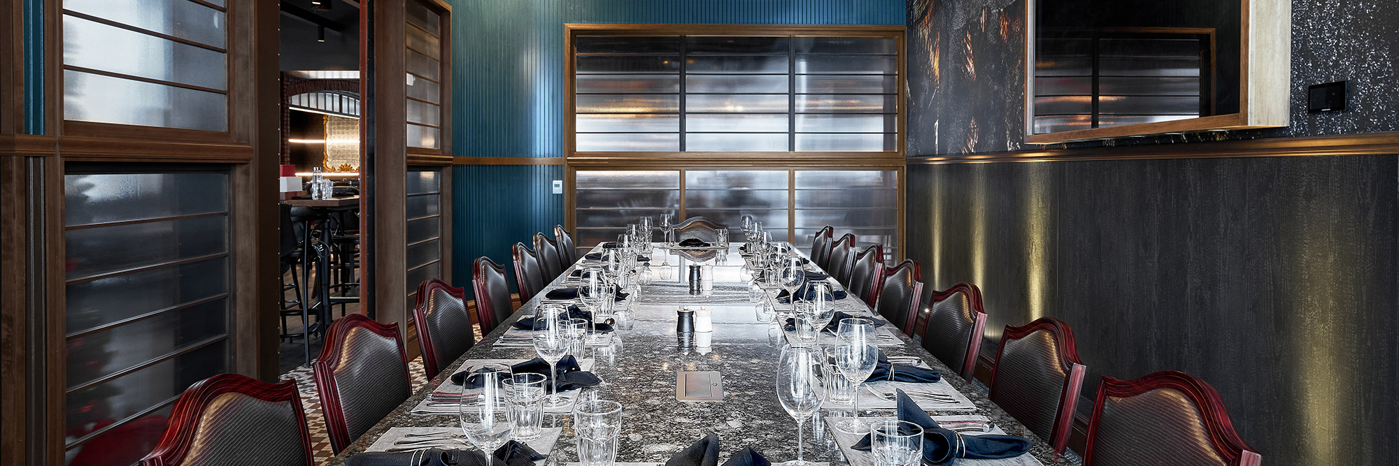 The Boardroom Private Dining room at 1933 Lounge at the Fishers District